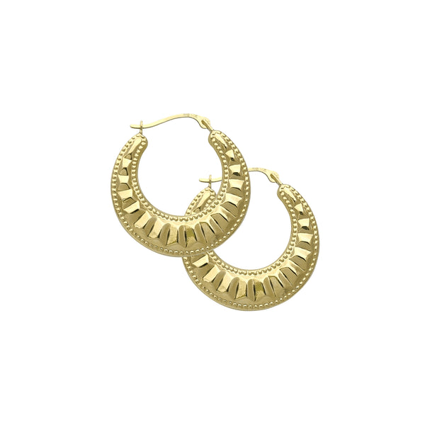 Milgrain Puffy Hoop Earrings (14K) Popular Jewelry New York
