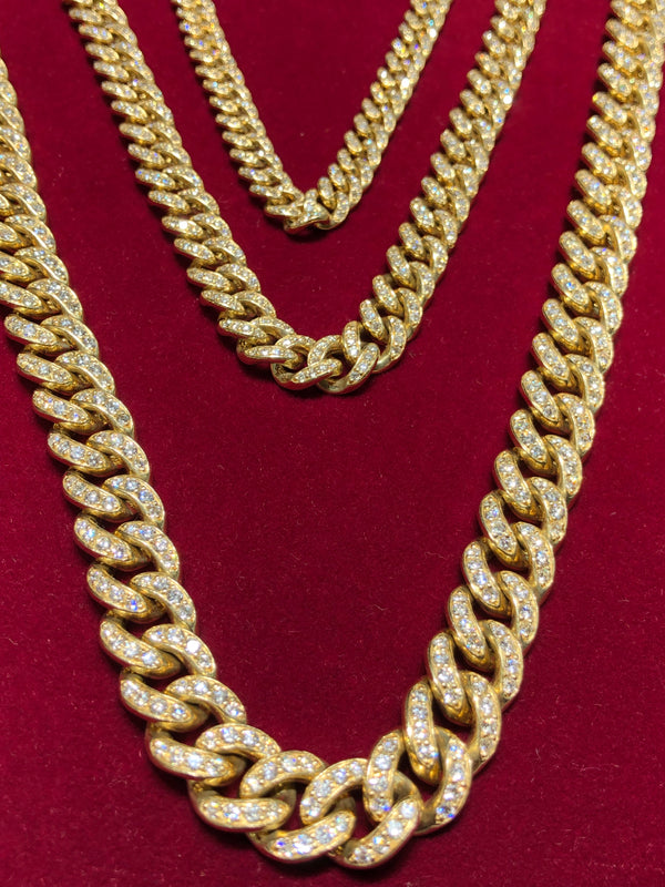 Diamond Miami Cuban Link Chain (14K)