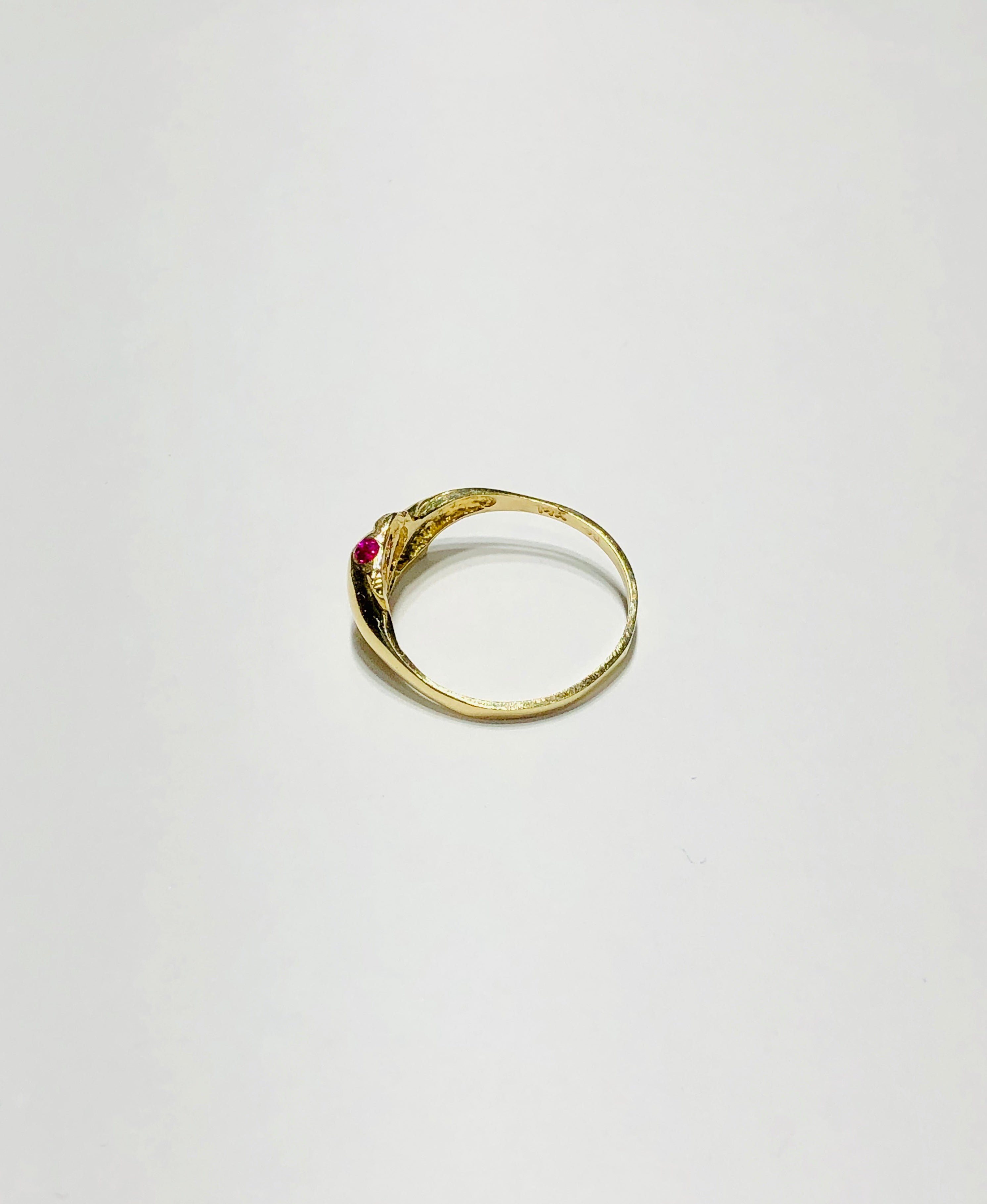Two Baby Dolphin CZ Ring (14K)