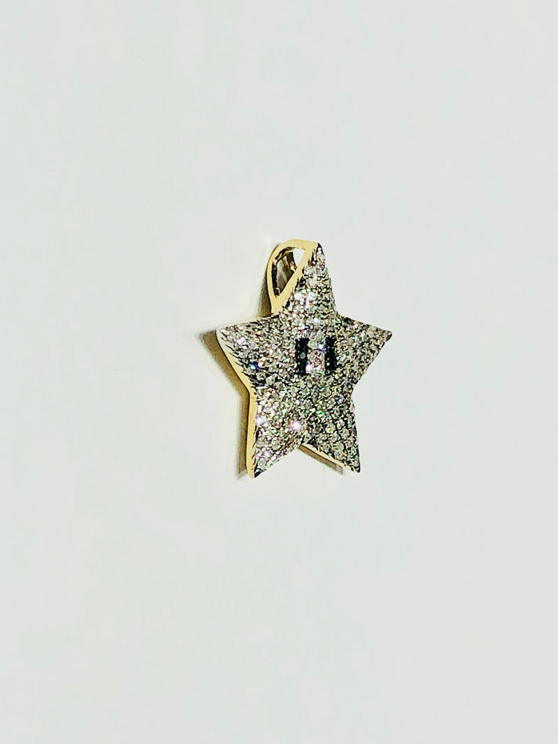 Mario Star Diamond Pendant (10K)