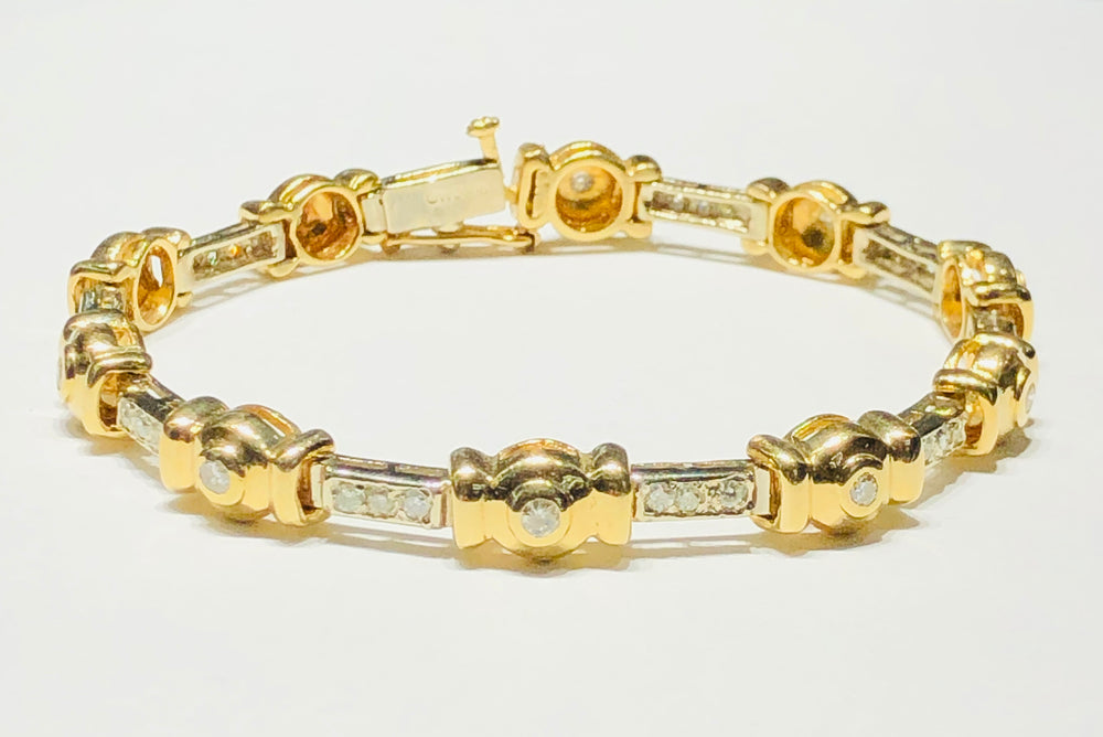 Diamond Candy Bracelet (14K)