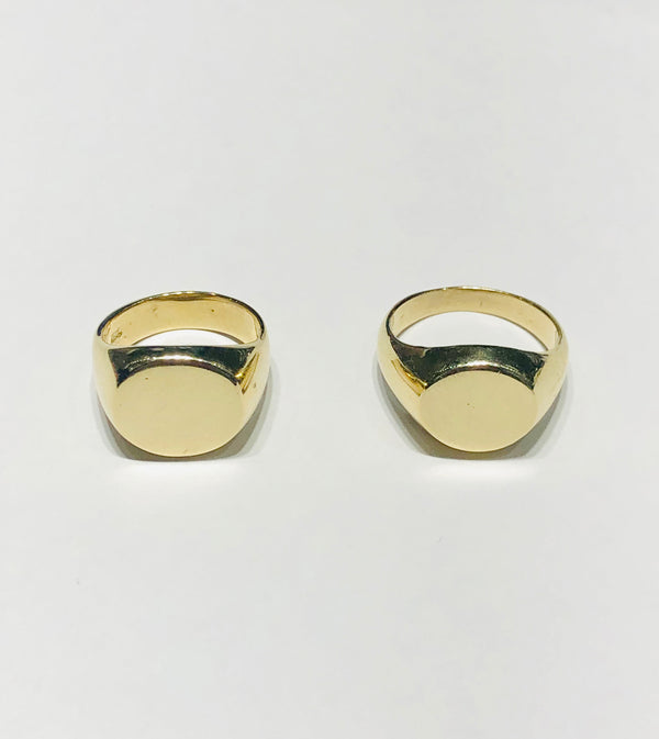 Hollow Pinky Signet Ring (14K)