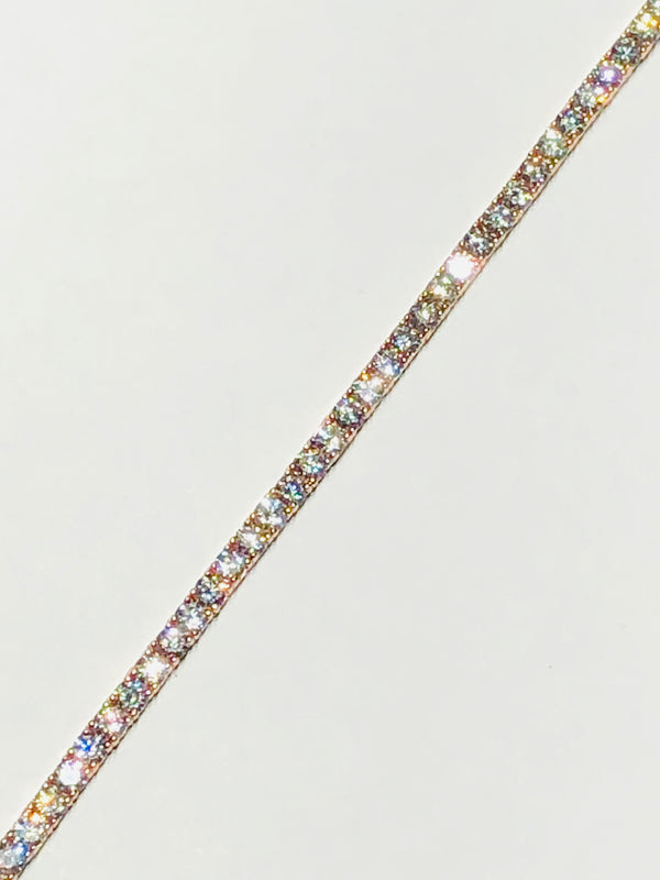 Tennis Diamond Rose Gold Bracelet (14K)