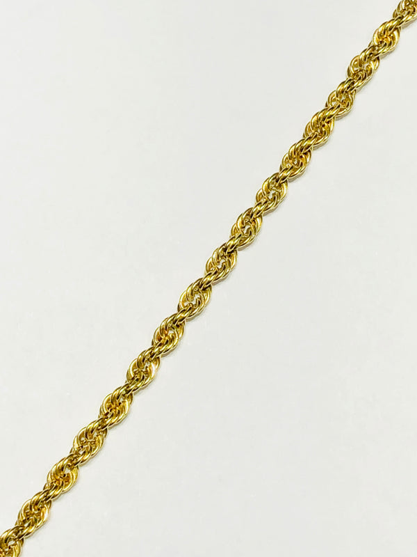 Hollow/Lightweight Rope Bracelet (14K)