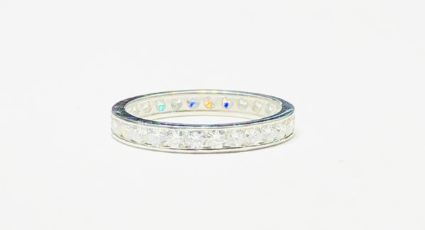 Eternity Band Channel Setting VS Diamond Ring (14K)