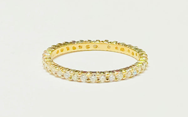 Eternity Band Prong Setting VS Diamond Ring (14K)