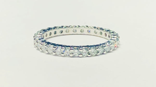 Eternity Band W/G Prong Setting VS Diamond Ring (14K)