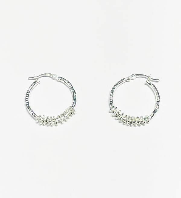 Spring Hoop Earrings (Silver)