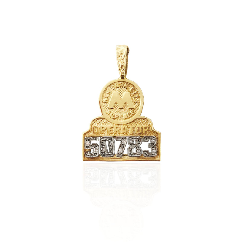 NYC MTA Operator Retro Badge Pendant (14K)