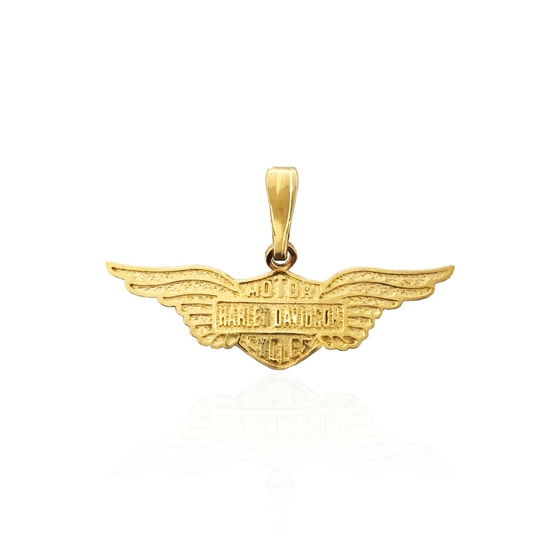 Motorcycle Insignia Pendant (14K)