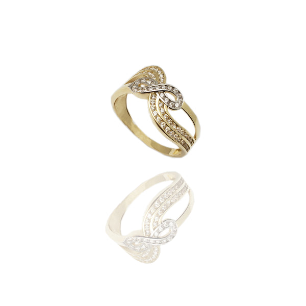 Infinity Wave CZ Ring (14K)