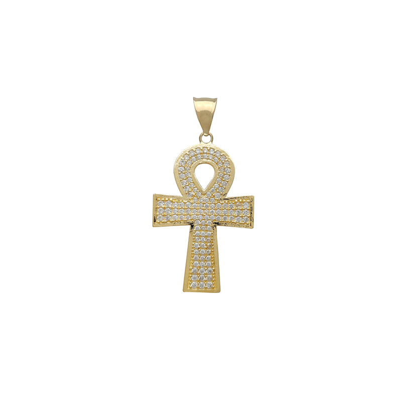 Iced-Out Ankh Pendant (14K) Popular Jewelry New York