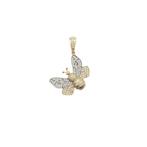 Iced-Out Bee CZ Pendant CZ Pendant (14K)