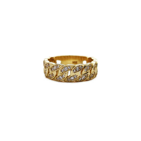 Iced-Out Cuban Ring (14K) Popular Jewelry New York