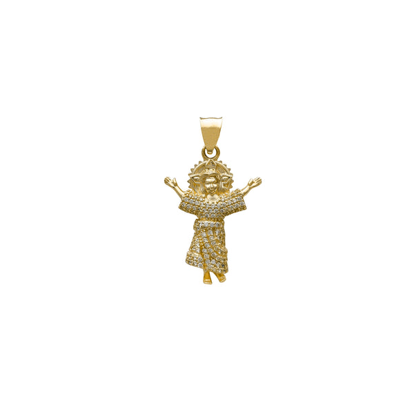 Iced-Out Halo Baby Jesus Pendant (14K) Popular Jewelry New York