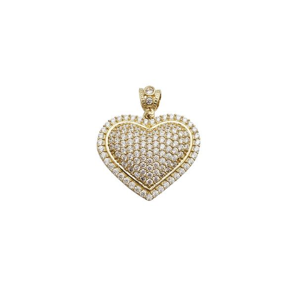 Iced-Out Heart CZ Pendant (14K)