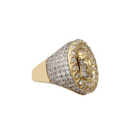 Iced-Out Jesus Head Men's Ring (14K) Popular Jewelry نیویورک