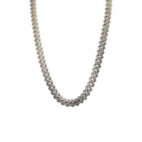 Iced-Out Monaco Edge Chain (14K) Popular Jewelry New York