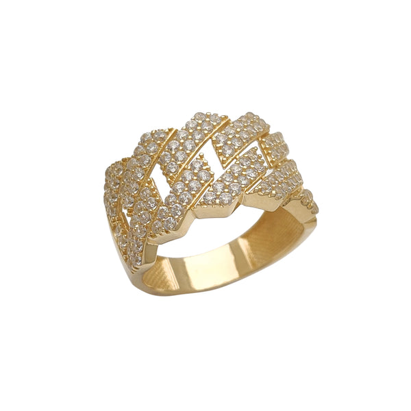 Iced-Out Monaco Edged Ring (14K) Popular Jewelry New York