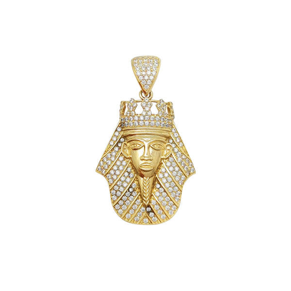 Iced-Out Pharaoh Pendant (14K) Popular Jewelry New York