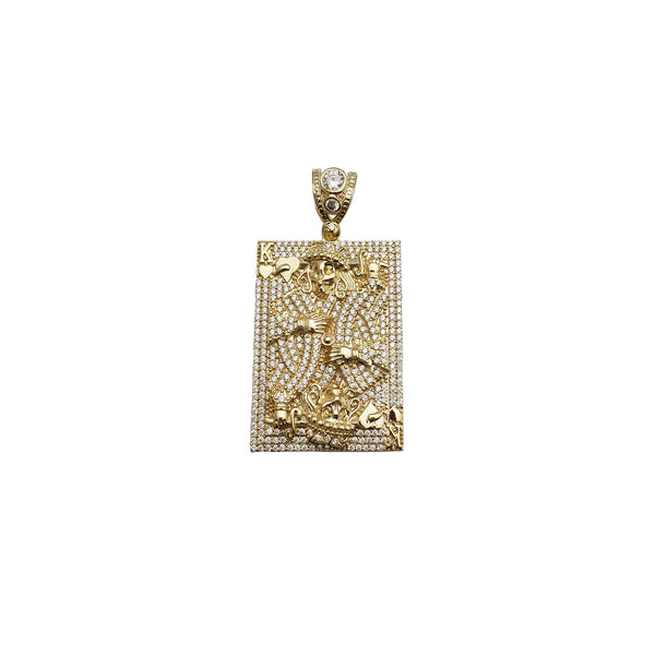 Iced-Out Poker Card CZ Pendant (14K)