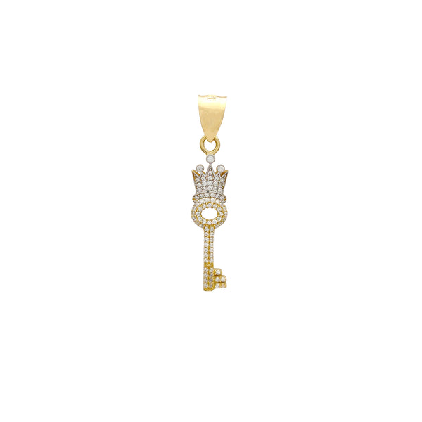 Iced-Out Royalty Key Pendant (14K) Popular Jewelry New York