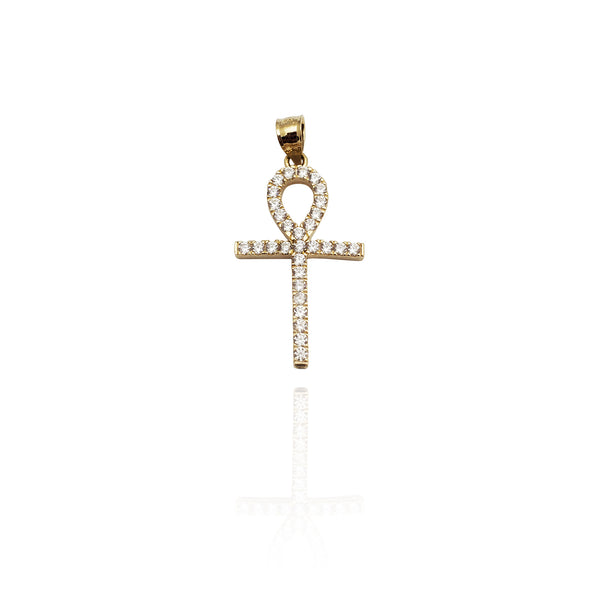 Iced-Out Simple Ankh CZ Pendant (14K) New York Popular Jewelry