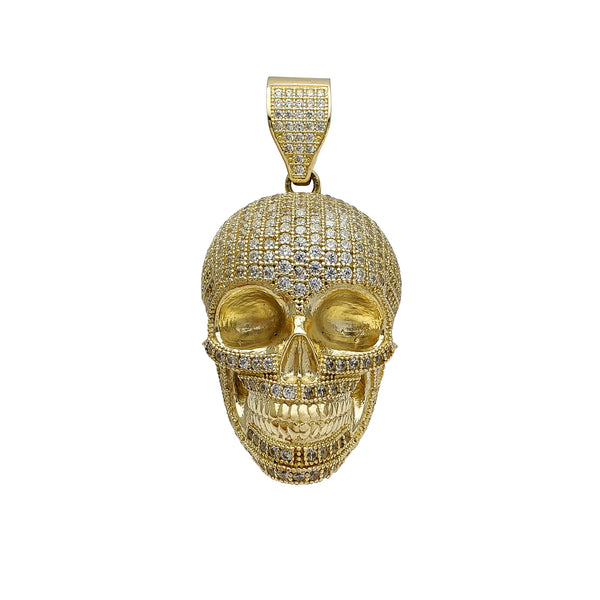 Iced-Out Skull Pendant (14K) Popular Jewelry New York