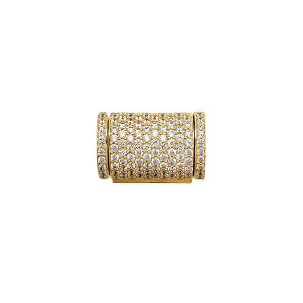 Iced-Out CZ Sleek Box Clasp (14K)