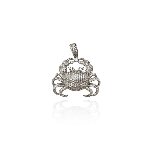 Iced-Out Crab CZ anheng (sølv) New York Popular Jewelry