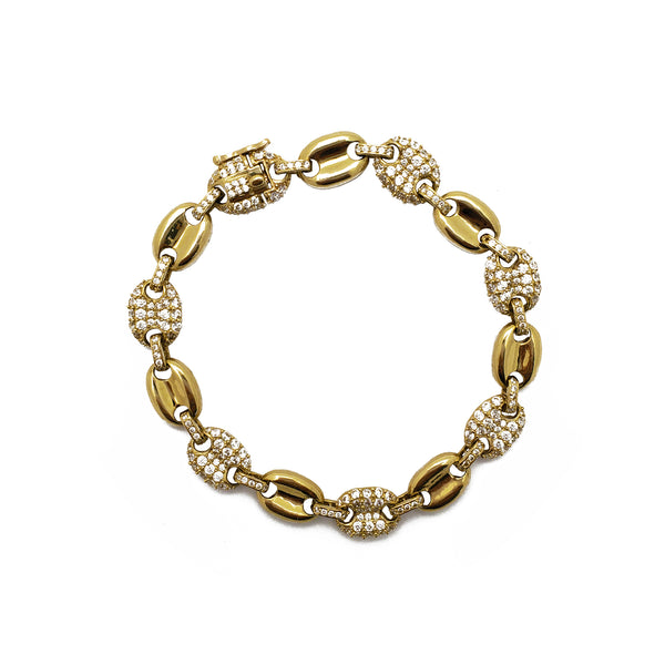 Iced-Out Puffy Gucci Bracelet (14K)