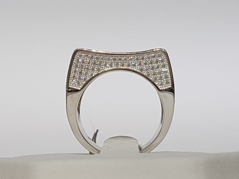 Iced-Out Micro Pave Ring Silver - Popular Jewelry