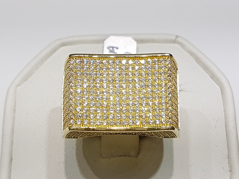 Iced-Out Micro Pave CZ Ring Silver - Lucky Diamond 恆福珠寶金行 New York City 169 Canal Street 10013 Jewelry store Playboi Charlie Chinatown @luckydiamondny 2124311180