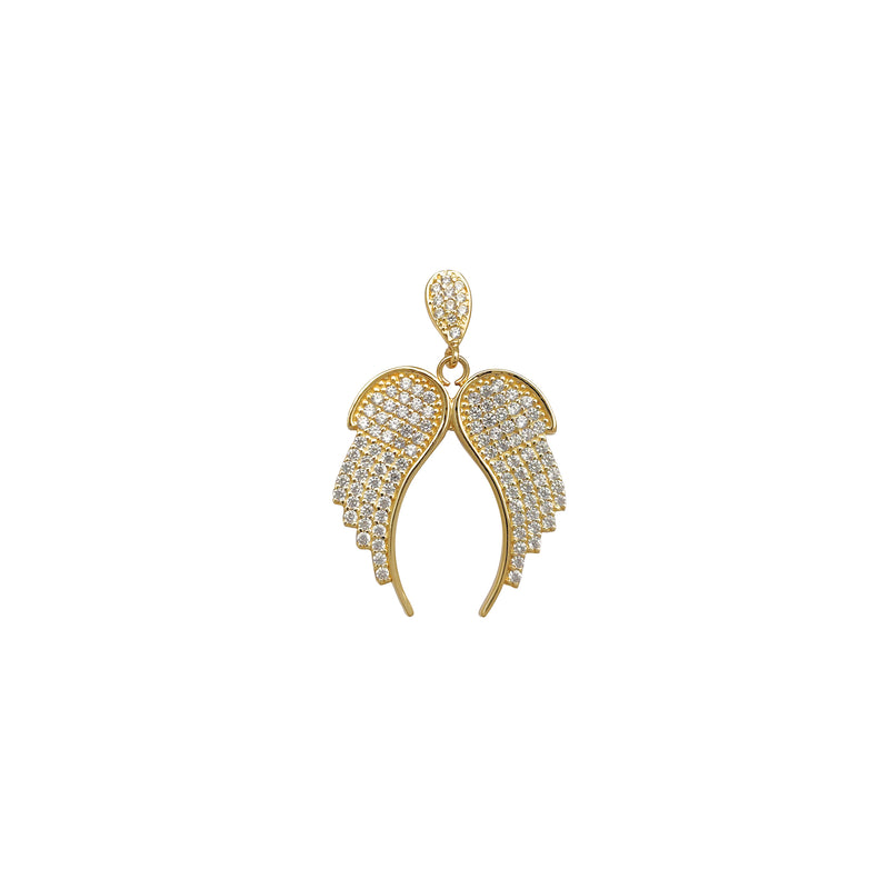 Icy Angel Wings Pendant (14K) Popular Jewelry New York