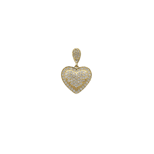 Icy Double Heart Pendant (14K) Popular Jewelry New York