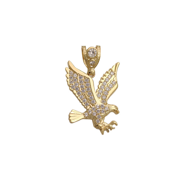 Large Icy Flying Eagle Pendant (14K) Popular Jewelry New York