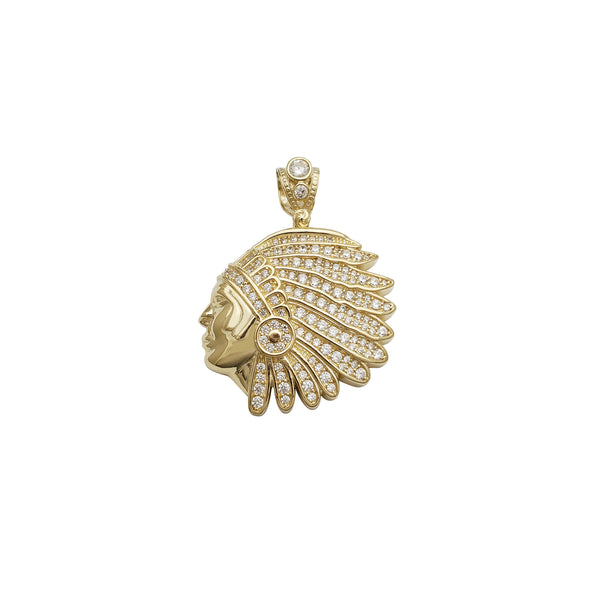 Indian Head Pendant (14K)