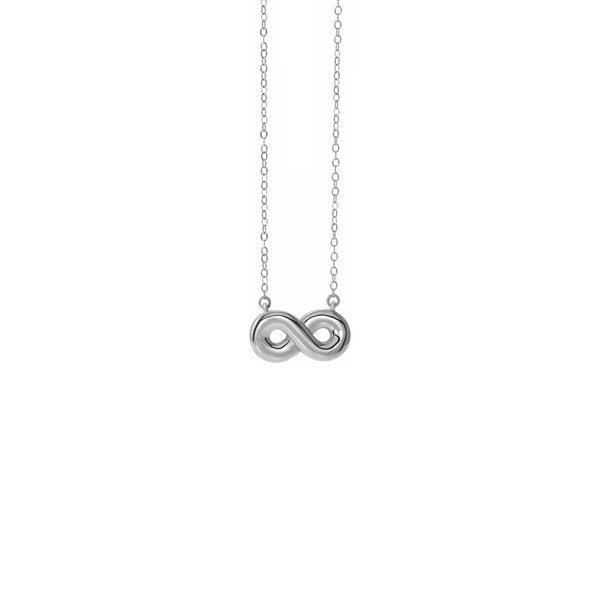 Infinity Ash Holder Necklace (Silver) front - Popular Jewelry - New York