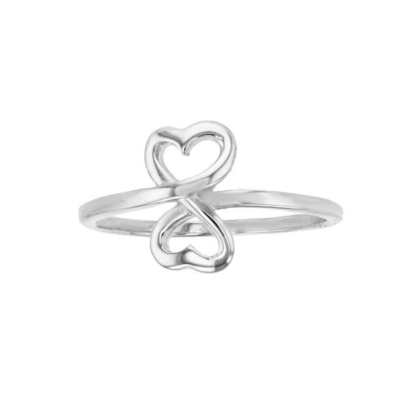 Infinity Heart Ring (Silver) Popular Jewelry