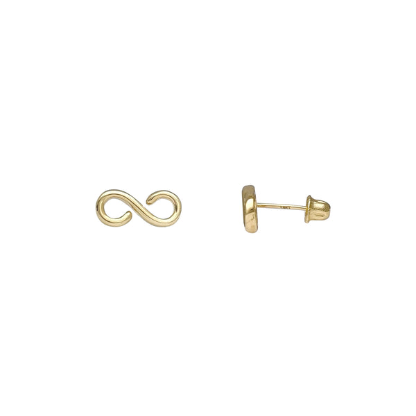 Infinity Stud Earrings (14K) Popular Jewelry New York