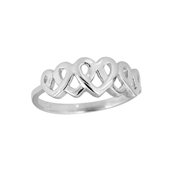 Interlocking Hearts Ring (Silver) Popular Jewelry New York