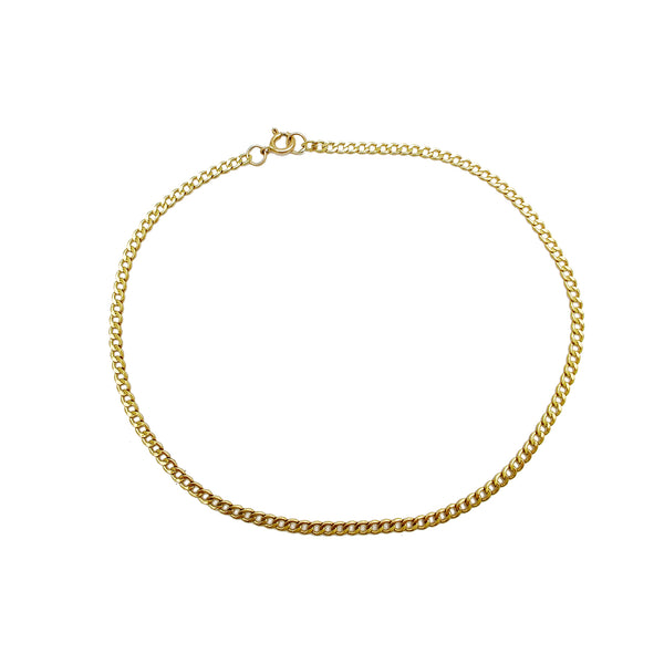 Italian Cuban Anklet Bracelet (14K) Popular Jewelry New York