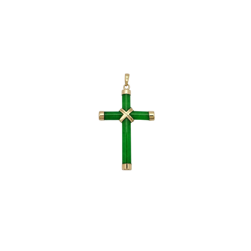 Jade Brassard Cross Pendant (14K) Popular Jewelry New York