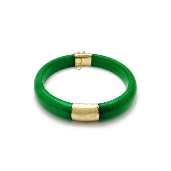 Jade Bangle (14 K) Popular Jewelry NY