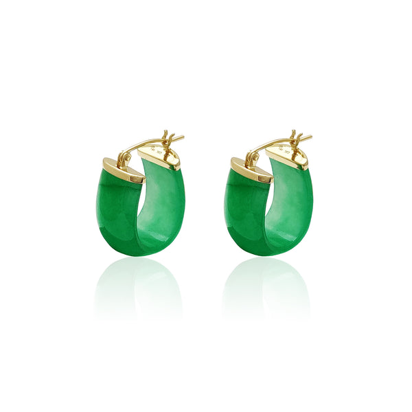Jade Hammock Earrings (14K) Popular Jewelry Nûyork