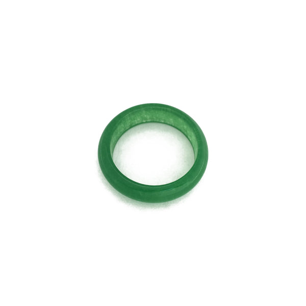 Jade Ring (Dark Green) front - Popular Jewelry - New York