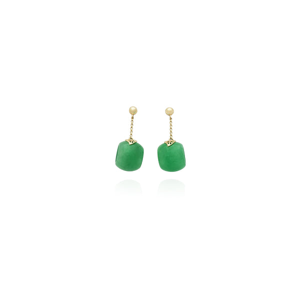 Jade Ring Earrings (14K) New York Popular Jewelry