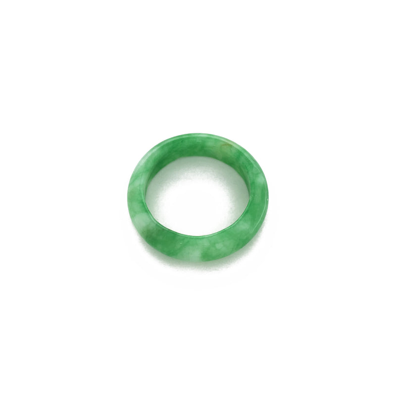 Jade Ring (Marbled Green) front - Popular Jewelry - New York