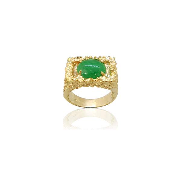 Anillo de pepita con sello de jade (14K) Popular Jewelry New York