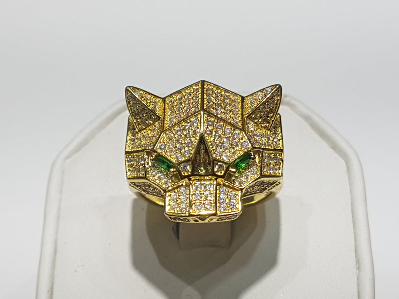 Iced-Out Pave Edgy Panther Ring Silver - Lucky Diamond 恆福 珠寶 金 行 New York City 169 Canal Street 10013 Juveelipood Playboi Charlie Chinatown @luckydiamondny 2124311180